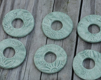 Pottery Sage Washer Bead