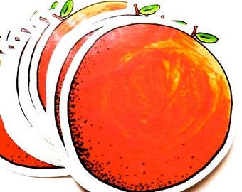 ORANGEPEELMYSTIC sticker . cover your apple up