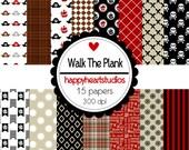 Digital Scrapbooking WalkThePlank-INSTANT DOWNLOAD