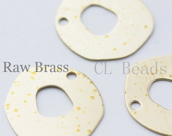 20pcs Raw Brass Irregular Charm - 21mm (1721C-T-79)