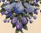Vintage Linen Fruit Tablecloth