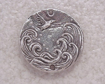 Green Girl Studios Pewter Grateful Heart Bird Coin