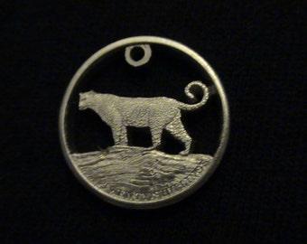 SOMALIA - cut coin jewelry - Leopard - 2013 - BRAND NEW