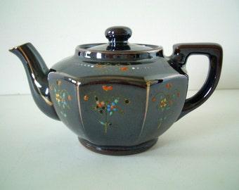Vintage Miniature Brown Teapot MG Japan