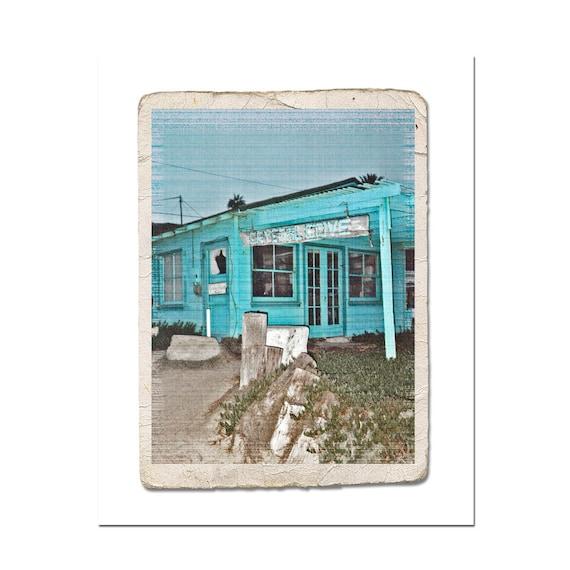 Crystal Cove Fine Art Retro Photograph California Beach House Decor Blue Travel Summer Vacation