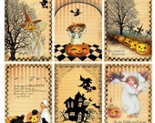 Scary Pumpkins---Collage Sheet