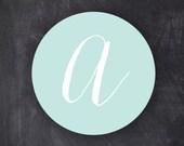 "2"" Monogram Wedding Stickers"