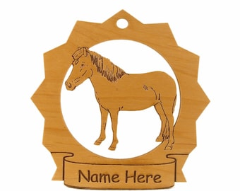Icelandic Pony Horse Wood Ornament 088155 Personalized With Your Pony's Name