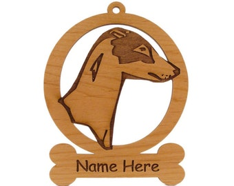 Greyhound Ornament 083320 Personalized With Your Dog's Name