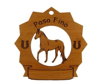 8213 Paso Fino Horse Personalized Wood Ornament
