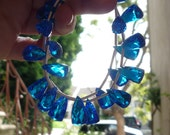 Elongated Fancy 3 Sided Trillion London Blue Topaz Quartz Briolette Beads 1/2 Strand Perfect For Earring Pairs Possible Matched Pairs