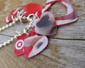 Recycled Target Gift Card Necklace