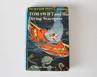 1950s edition--The New Tom Swift Jr. Adventures--Tom Swift and His Diving Seacopter--vintage junior book