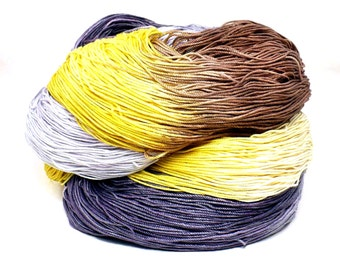 300 Yards Hand Dyed Cotton Crochet Thread Size 10 3 Ply Specialty Thread  Yellow Tan Brown Purple Lavender Hand Painted Fine Cotton Yarn