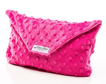 Minky clutch diaper bag- baby shower gift, new baby,