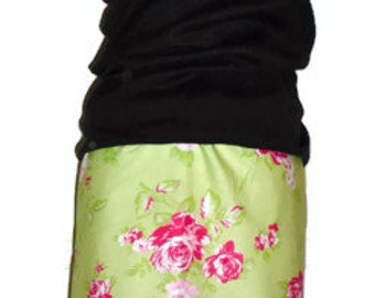Pencil SKIRT - Tanya Whelan - Roses - Made in ANY Size - Boutique Mia