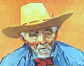Old Peasant (Patience Escalier), 1888, by Vincent Van Gogh - a Frameable Vintage 1952 Art Print