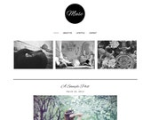 Premade Blogger Template - MUSE- Pinterest Hover Pin-It Button - Mobile Responsive - Photography - Graphic Design - Blog Template