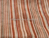 A Mod Stripe - Vintage Fabric Mod 70s New Old Stock Upholstery Velour