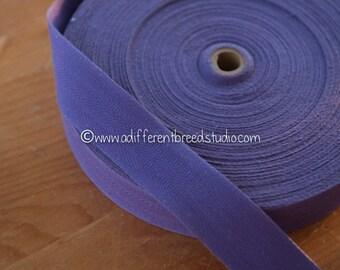 3 yards Purple Edging  - Vintage Trim New Old Stock Woven Twill Rug Binding