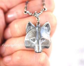 Wolf Mask No. 1 Necklace - Werewolf Wolf Head  - Made in USA Components - Free Domestic Shipping