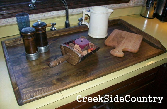 kitchen sink cap primitive breadboard kitchen sink cover lg or stove top 2607