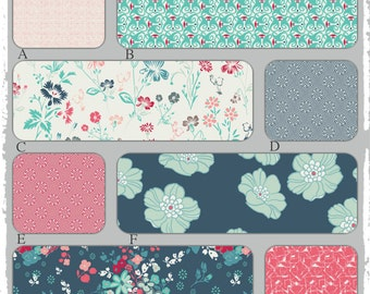 Custom Baby Bedding in Teal, Turquoise, Peach and Coral - NouvElle Collection