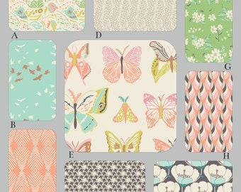 Peach, Aqua and Mint Baby Crib Bedding, The Winged Collection