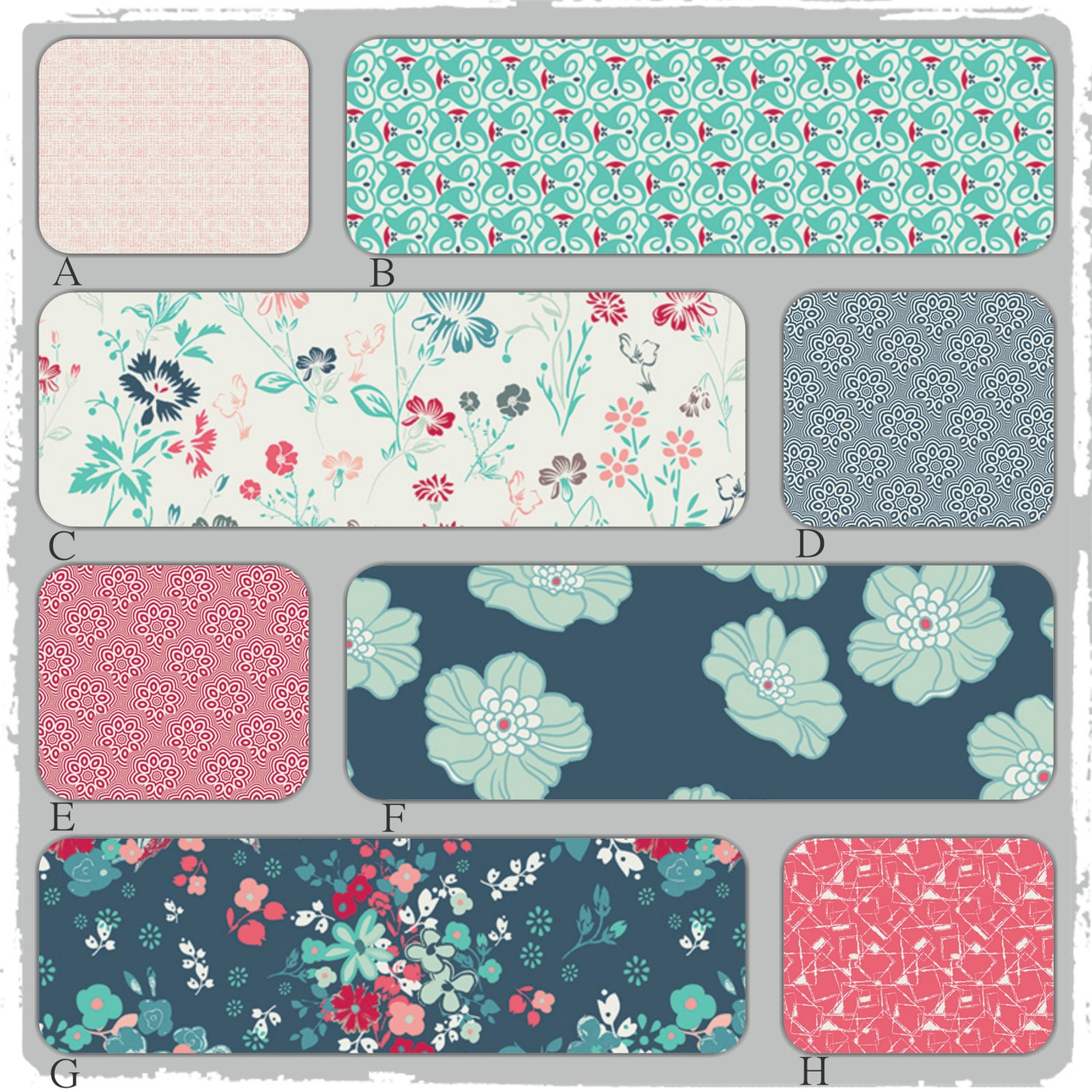 Peach And Aqua Bedroom: Custom Baby Bedding In Teal Turquoise Peach And Coral