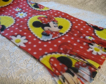 500+ Scarf Prints at SylMarCreations! * Minnie Mouse Passion Winter  Fleece Scarf Flowers Disney Daisy