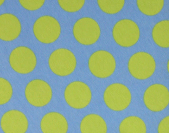 1 yard Pacific ocean knit dots cotton lycra