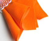 Orange Felt, 100% Wool, Choose Size, Wool Felt Sheet, Large Felt Square, Washable Felt, Waldorf Handwork, DIY Craft Supply, Toxin Free Felt