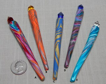 Crystal Healing Wands Polymer Clay Your Choice