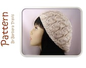 Knitting Pattern Chunky Slouch Beret Cable Design