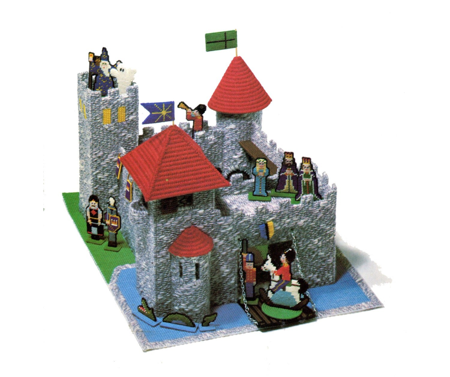 Plastic Canvas Castle Dollhouse Pattern Fort by allsfairyvintage