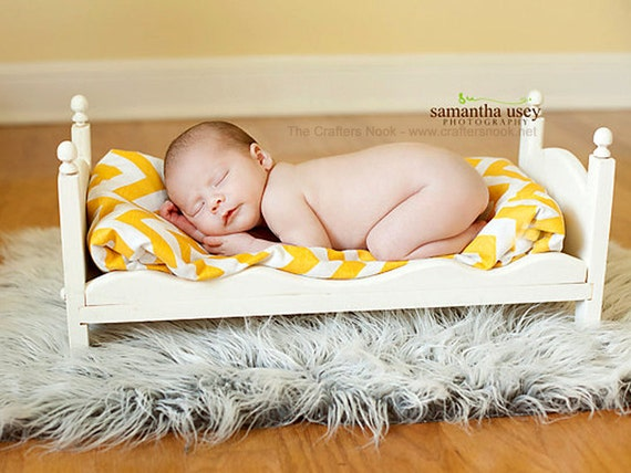 Small Newborn Photography Prop Baby Doll Posing Bed - Whimsical - DIY Ready to Stain or distress Photo Props