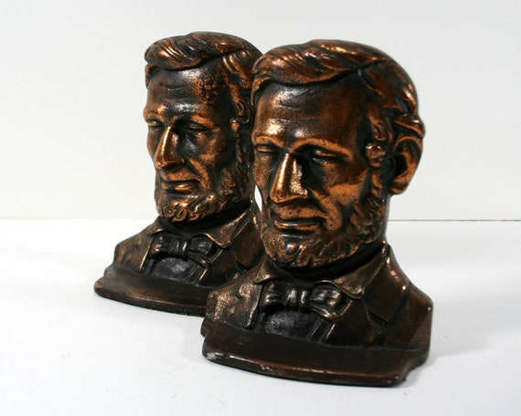 Abe Lincoln Bookends Abraham Lincoln Copper