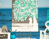 Unique Wedding Guestbook, Wedding Tree, Custom Wedding Guestbook, Beach Wedding Guestbook Art, Rustic Wedding Guest book / W-T05-1PS HH3 03P