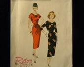 Uncut Retro Butterick Pattern 5707 Size 6-14 Retro 1958 Design Dress and Belt