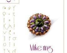 pendant tutorial / pattern  Mike ring...PDF instruction for personal use only