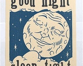 Good Night -Hand Printed Letterpress Poster