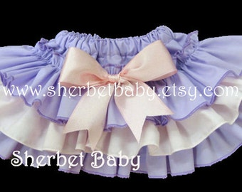 Ruffle Diaper Cover Panty Sassy Pants Little Lady    Wisteria  Lavender Purple  Pink