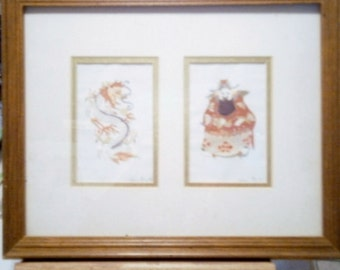 Beautful Oriental Paper Cuts  Dragon, Man