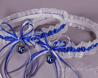 Kansas City Royals Lace Wedding Garter Set