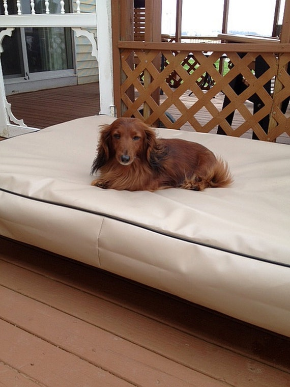 Dig proof dog bed cover 100 waterproof 18 oz anti mildew for Dog proof mattress cover