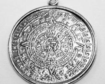 Aztec Calendar 1  bail Australian Pewter R030