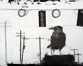 Urban I – Unexpected peace - Graphite drawing