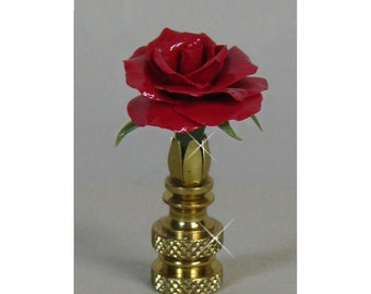 Rose Lamp Finial TB Hand Crafted in Custom Colors