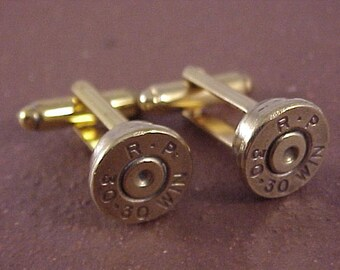 Bullet Cufflinks / Remington Arms 30-30 Rifle Cufflinks / Wedding Cufflinks / Groomsmens Gifts / Real Bullet Cufflinks / Rifle Cuff Links