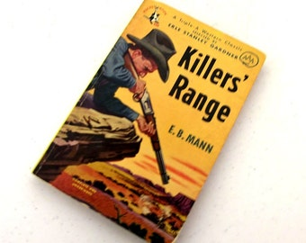 1950 Killers Range by E.B. White -- Collectible Western Pocket Book -- great for Ranch Country Home Decor